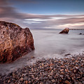 Evening At Knab Rock In Mumbles by Leighton Collins