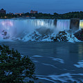 Evening At Niagara Falls, New York View by Brenda Jacobs