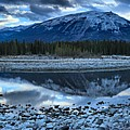 Evening At The Athabasca River by Adam Jewell