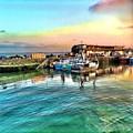 Evening Bridlington Harbour by Mo Barton