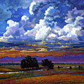 Evening Clouds Over The Prairie by John Lautermilch