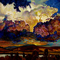 Evening Clouds Over The Valley by John Lautermilch