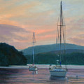Evening Glow Hudson River by Phyllis Tarlow