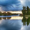 Evening In Autumn Park  by Ariadna De Raadt