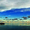 Evening In Paradise Panoramic by Sue Melvin