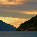 Evening Light At Lake Crescent by Dan Sproul