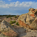 Evening Light On Boulders Of Bentonite Site by Ray Mathis