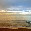 Evening Light On Shanklin Beach by Rod Johnson
