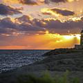 Evening Lighthouse by Paki O'Meara
