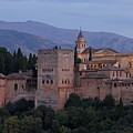 Evening Lights At The Alhambra by Stephen Taylor