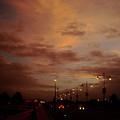 Evening Lights On Road by Atullya N Srivastava