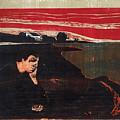 Evening. Melancholy by Edvard Munch