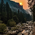 Evening On The Merced River by Kristia Adams