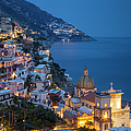Evening Over Positano by Brian Jannsen