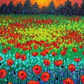 Evening Poppies by John  Nolan