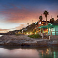 Evening Reflections, Crystal Cove by Cliff Wassmann