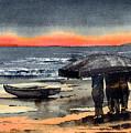 Evening Return, Aran by Val Byrne