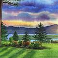 Evening Shadows Landscape Painting by Irina Sztukowski