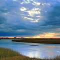 Evening Sky Over Hatches Harbor, Provincetown by Roupen  Baker