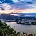 Evening Sky Over Rio De Janeiro by Desiree Silva