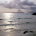 Evening The Isle Of Eigg  Inner Hebrides From The Beach At Arisaig Scotland by Michael Walters