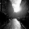 Evening Walk In Paris Bw by Felipe Adan Lerma