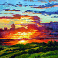 Evenings Final Glow by John Lautermilch