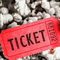 Event Ticket Lying On Pile Of Popcorn by Jorgo Photography - Wall Art Gallery