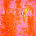 Everyone's Fav - Pink And Orange Abstract Art Painting by CarolLynn Tice