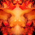 Evil Red Abstract By Spano by Michael Spano