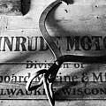 Evinrude Motors Crate Circa 1940s by David Lee Thompson