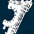 Ewr Newark Liberty International Airport In Newark Usa Runway Si by Jurq Studio