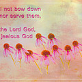Exodus 20 5 Scripture Art by Beverly Guilliams