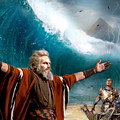 Exodus Moses And Pharaoh  Of Egypt by Carl Gouveia