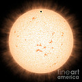 Exoplanet Hd 219134b In Front Of Star by Science Source