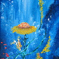 Exotic Colorful Flowers Abstract Composition by Ambasador