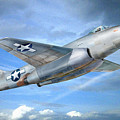 Experimental Jet Fighter Xp-83 In Fly by Alex Arkhipau