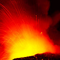 Exploding Lava At Night by Peter French - Printscapes