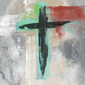 Expressionist Cross 3- Art By Linda Woods by Linda Woods