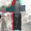 Expressionist Cross 4- Art By Linda Woods by Linda Woods