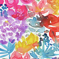 Expressionist Watercolor Garden- Art By Linda Woods by Linda Woods