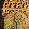 Exterior Of The Rose At Strasbourg Cathedral, France by Elzbieta Fazel