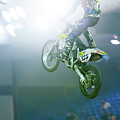 Extreme Motorcycle Stunt Jump by SR Green