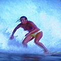 Extreme Surfing Of Woman by Stanley Morganstein