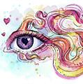 Eye Fish Surreal Betta by Olga Shvartsur