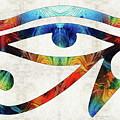 Eye Of Horus - By Sharon Cummings by Sharon Cummings