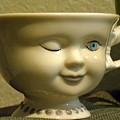 Eye Tea Cup 1 by Janet Dickinson