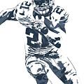 Ezekiel Elliott Dallas Cowboys Pixel Art 3 by Joe Hamilton