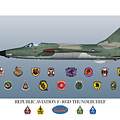 F-105d Thunderchief And Squadron Patches by John Matthews