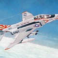 F-4b Phantom II Of Vf-111 by Douglas Castleman